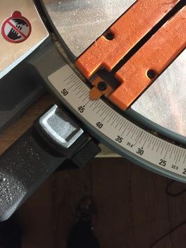 45° angle set to cut!