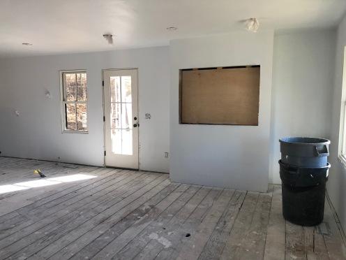Living room wall - TV/fireplace