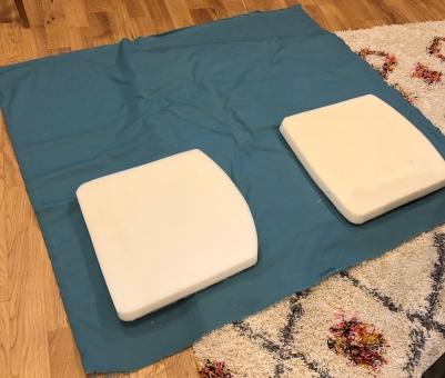 End chair base cushions